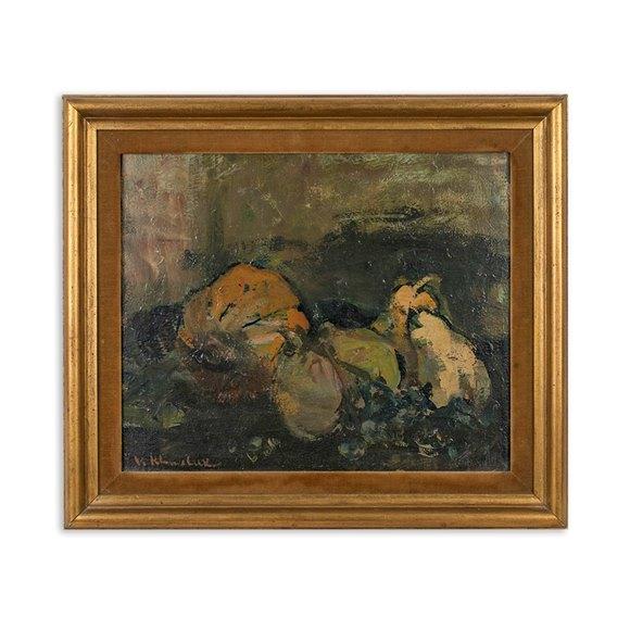 Original Oil On Canvas By Vassyl Khmeluk 1903-1986