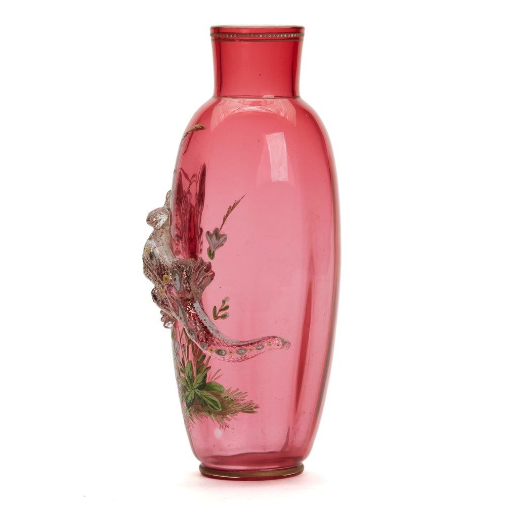 Thomas Webb Enamelled Vase C.1888 Circa 1888