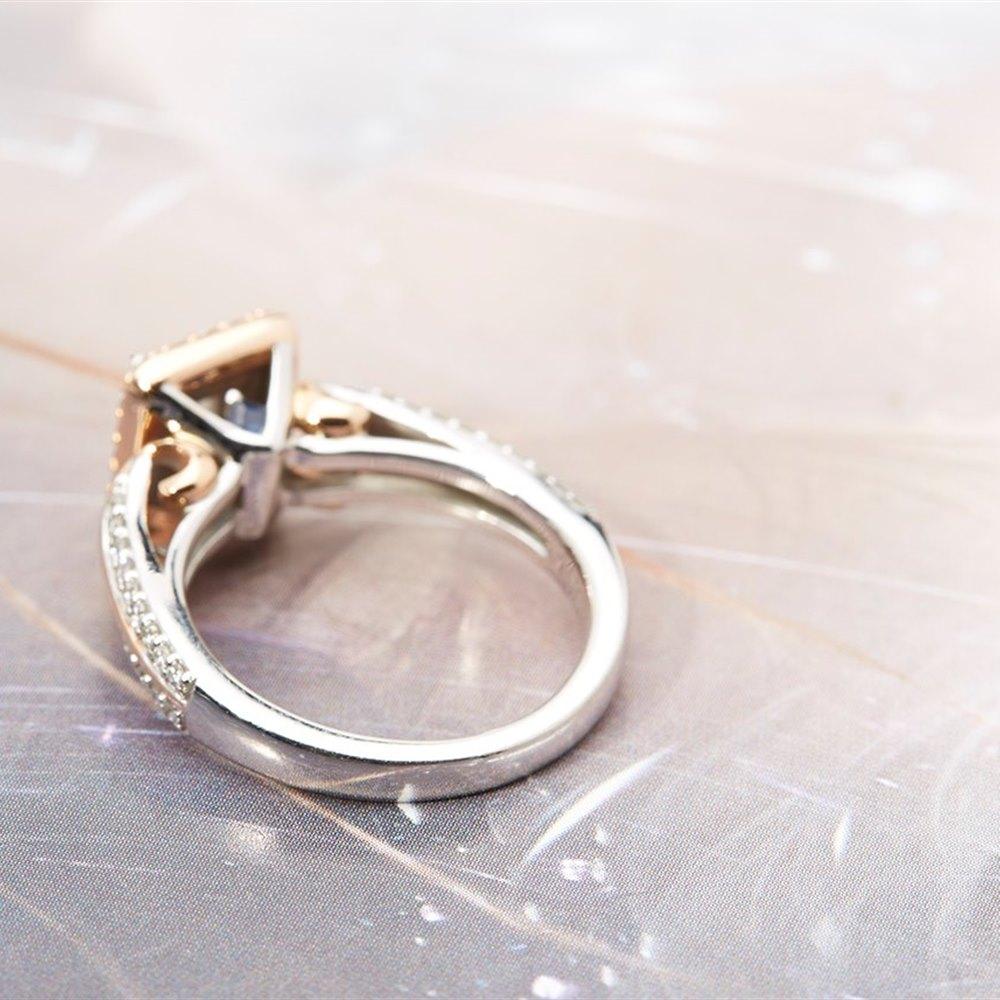 Vera Wang 18k White & Rose Gold Diamond Engagement Ring