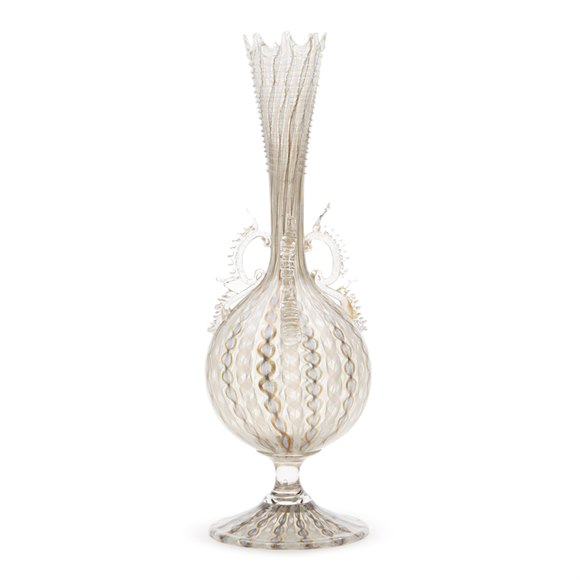 Antique Italian Facon De Venise Glass Vase 19Th C