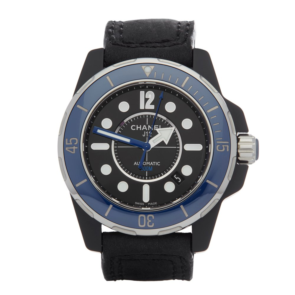 Chanel J12 Marine Diver Ceramic/Pvd Dlc Coated Stainless Steel H2559