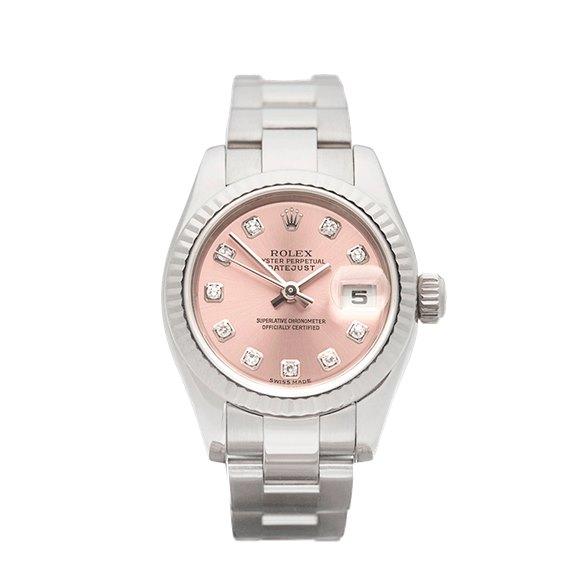 Rolex DateJust 26 Diamond 18k White Gold - 179179