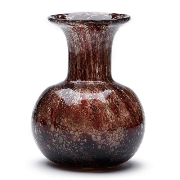 Ercole Barovier Reddy Brown Effeso Art Glass Vase C.1968