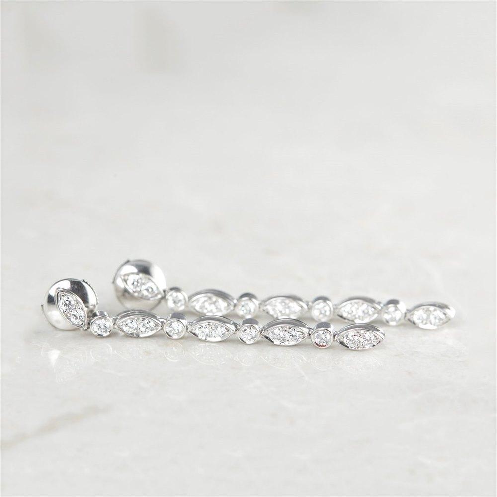 Tiffany & Co. Platinum 1.10ct Diamond Drop Earrings