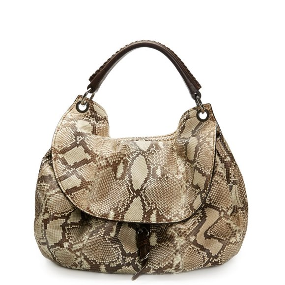 Miu Miu Python Leather Aviator Hobo Bag