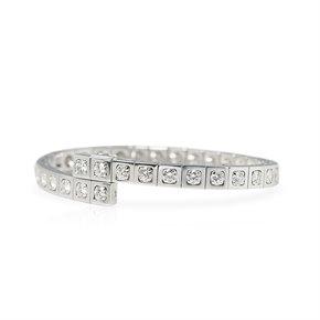 Cartier 18k White Gold Diamond Tectonique Bracelet