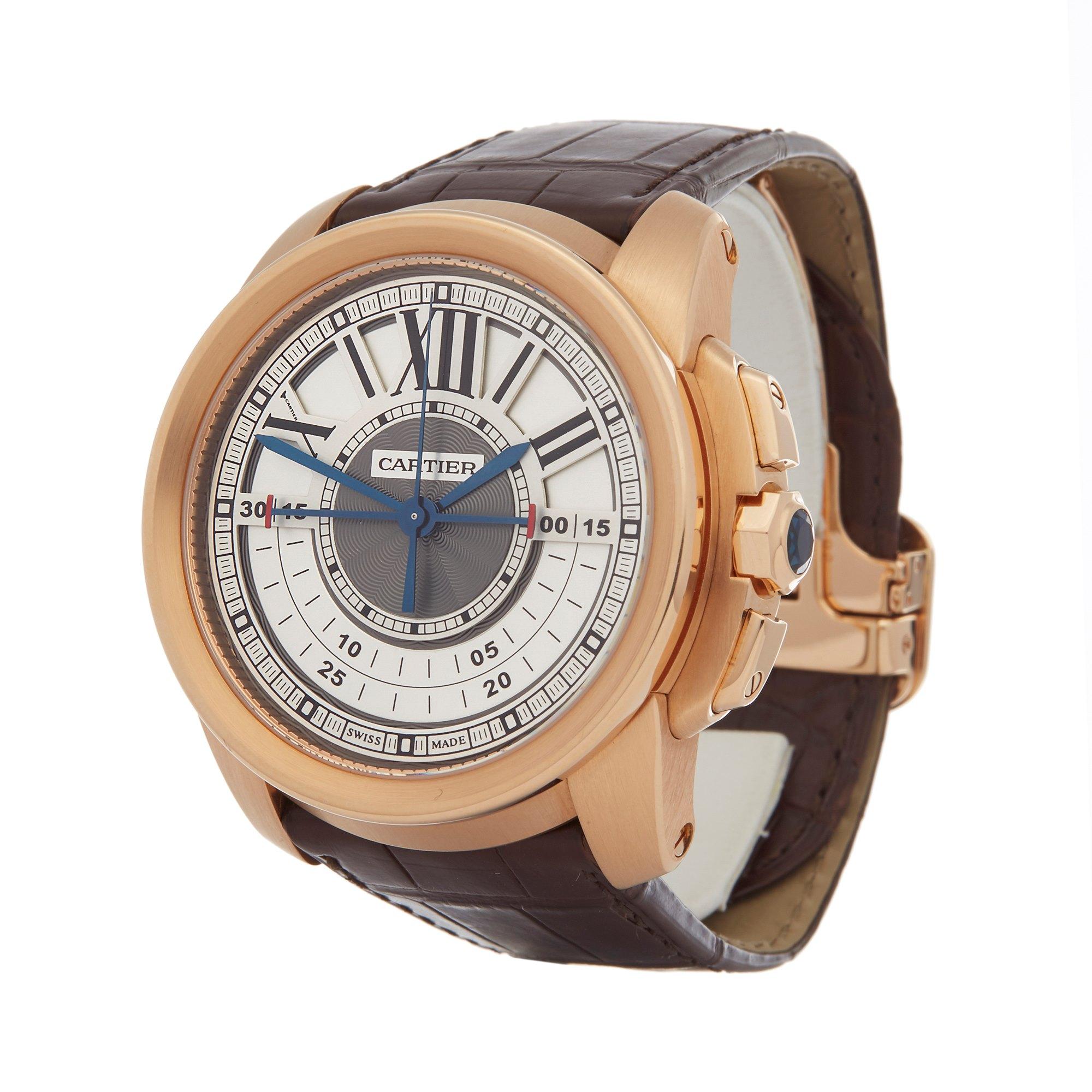 Cartier Calibre Central Chronograph Rose Gold W7100004 or 3242