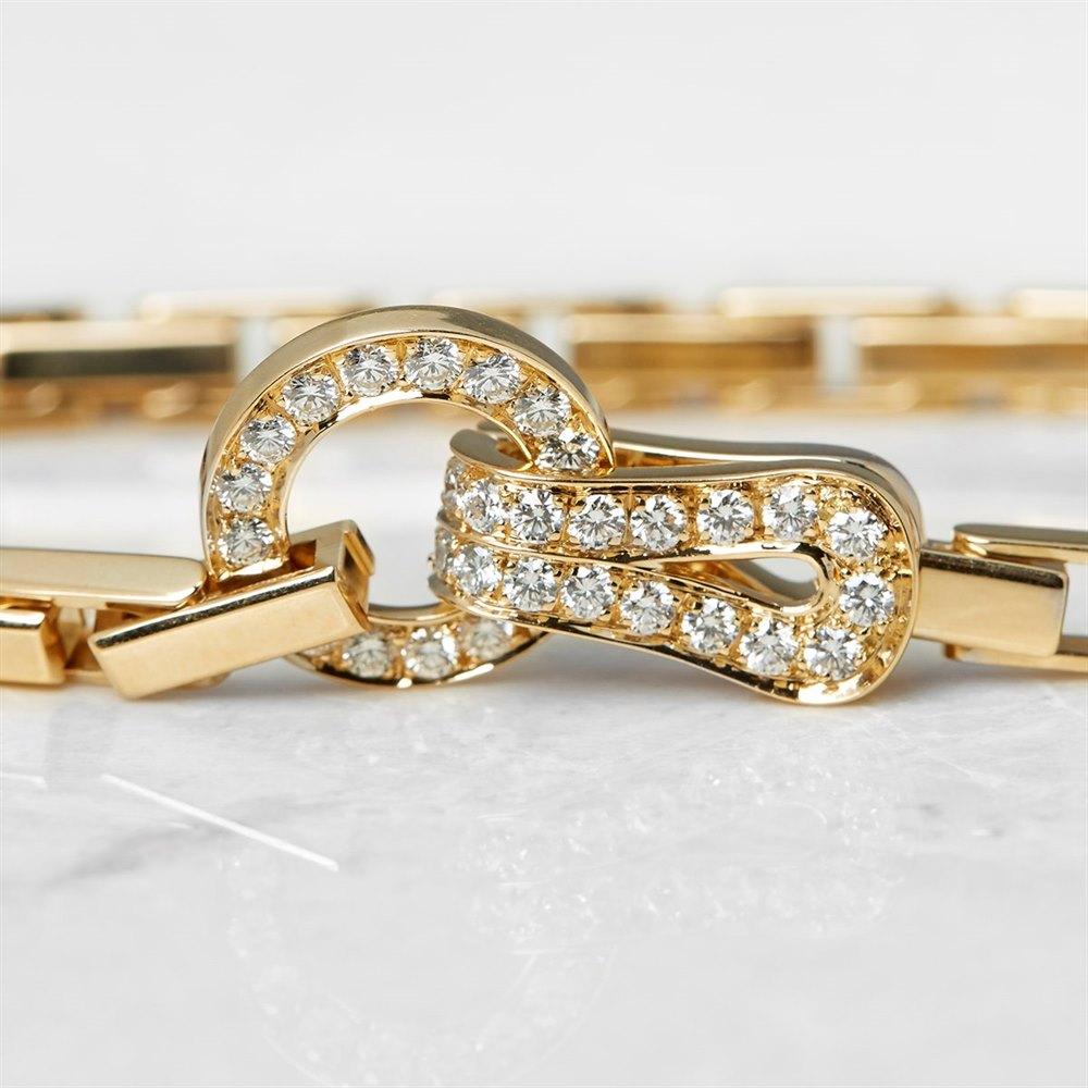 Cartier 18k Yellow Gold Diamond Agrafe Bracelet