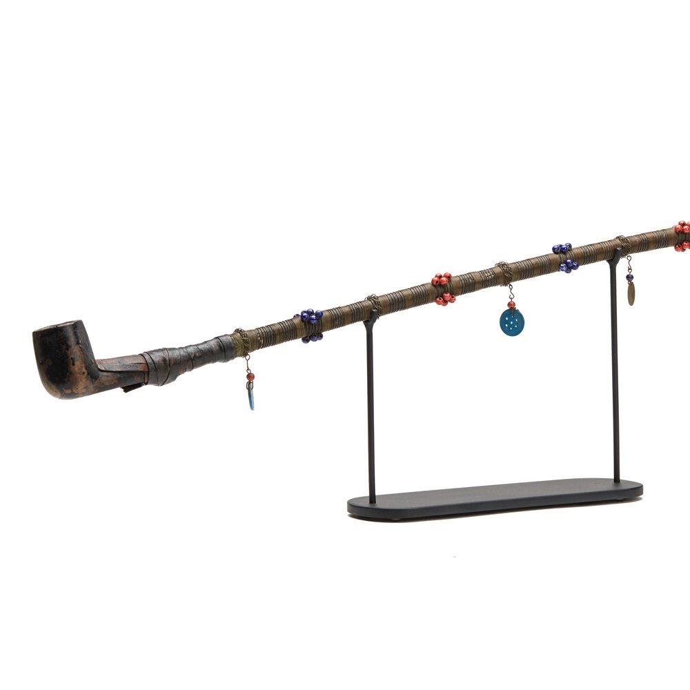 ANTIQUE/VINTAGE SOUTHERN AFRICAN BEADED PIPE EARLY 20TH C. Early 20th Century