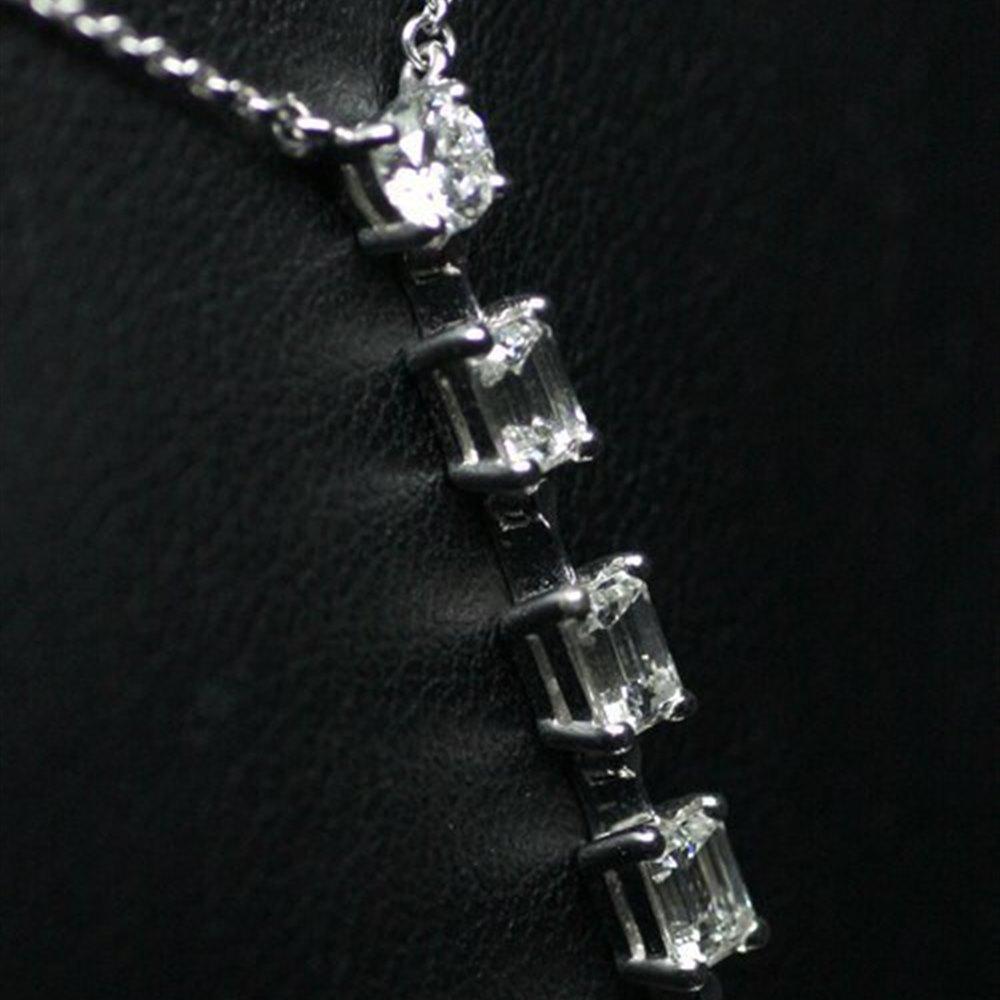 Mappin & Webb Platinum 6 Stone Gvs Diamonds Pendant Necklace