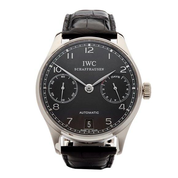 IWC Portuguese 7 Day 18k White Gold - IW500106