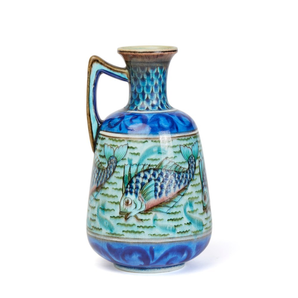 BURMANTOFTS FAIENCE ANGLO PERSIAN LEONARD KING VASE c.1895 Circa 1895