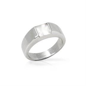 Cartier 18k White Gold Moonstone Tank Ring