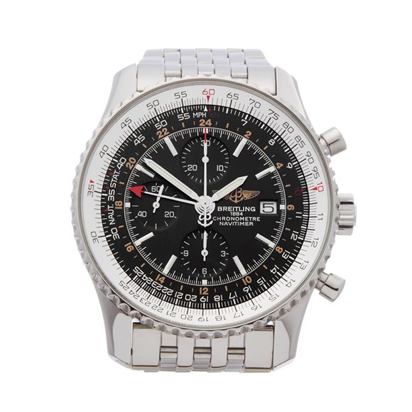 Breitling Navitimer World Chronograph Stainless Steel - A24322
