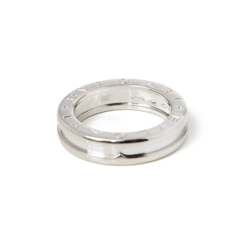 Bulgari 18k White Gold B.Zero 1 Ring Size J