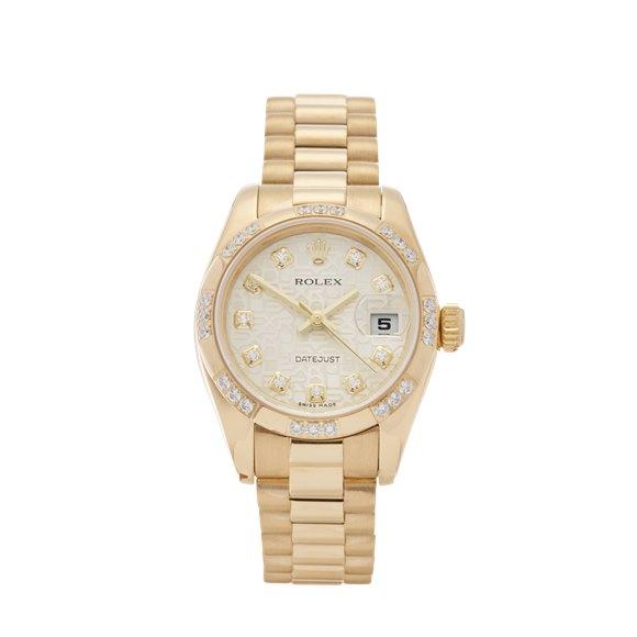 Rolex DateJust 26 Diamond 18k Yellow Gold - 179368
