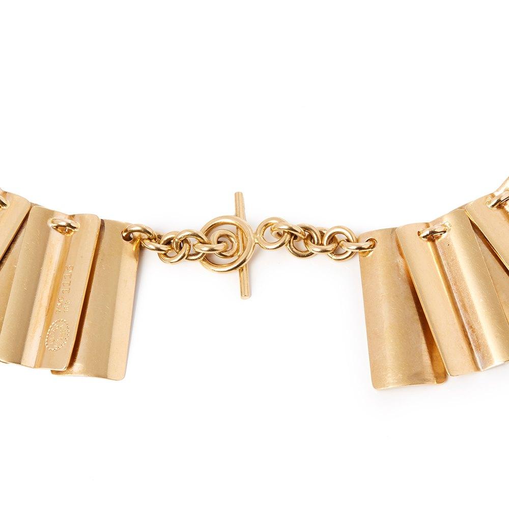 Georg Jensen 18k Yellow Gold Large Rare Vintage Link Design Necklace