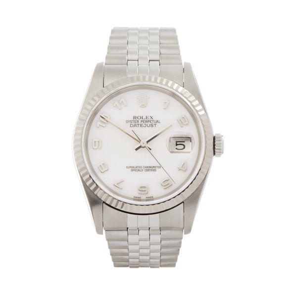 Rolex DateJust 36 Mother Of Pearl Stainless Steel & White Gold - 16234