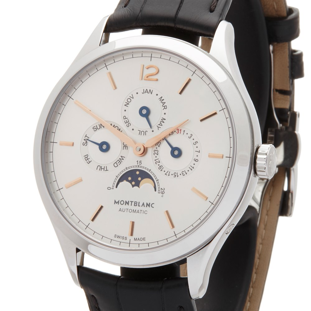 Montblanc Heritage Annual Calendar Stainless Steel 112534