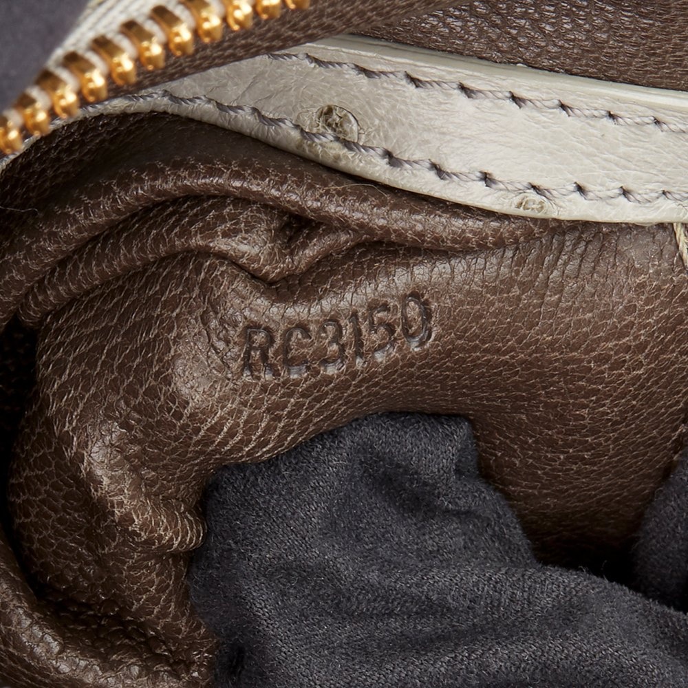 Louis Vuitton Grey Alligator Leather, Ostrich Leather & Mink, Jacquard Monogram Comedie Carrousel