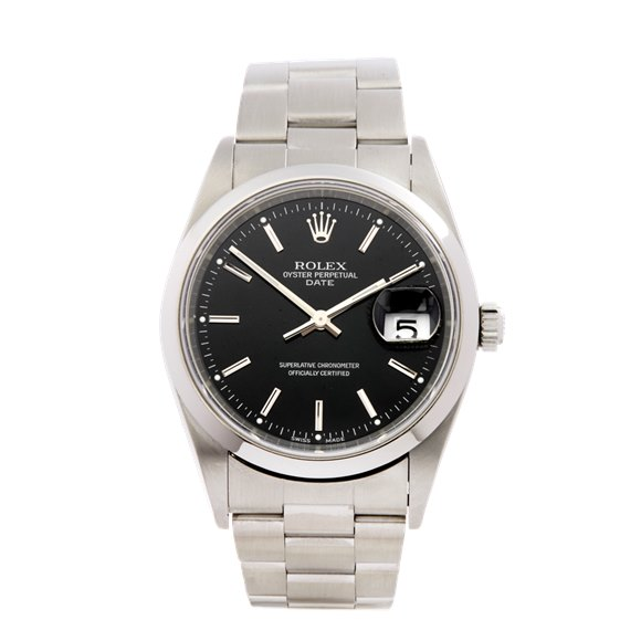 Rolex Oyster Perpetual Date 34 Stainless Steel - 15200