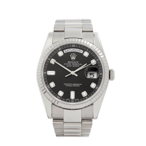 Rolex Day-Date 36 Diamond 18k White Gold - 118239