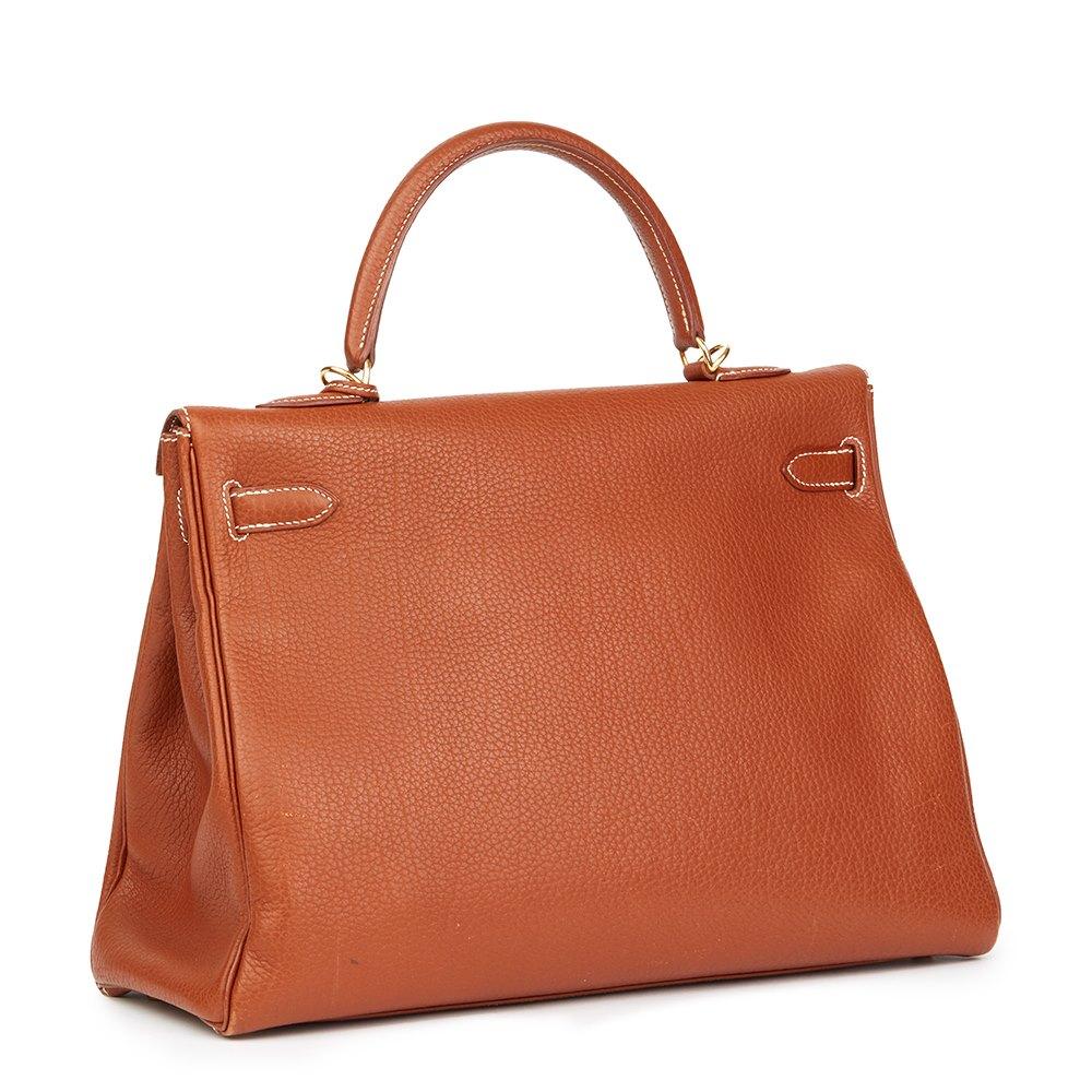 Hermès Brique Togo Leather Kelly 32cm Retourne