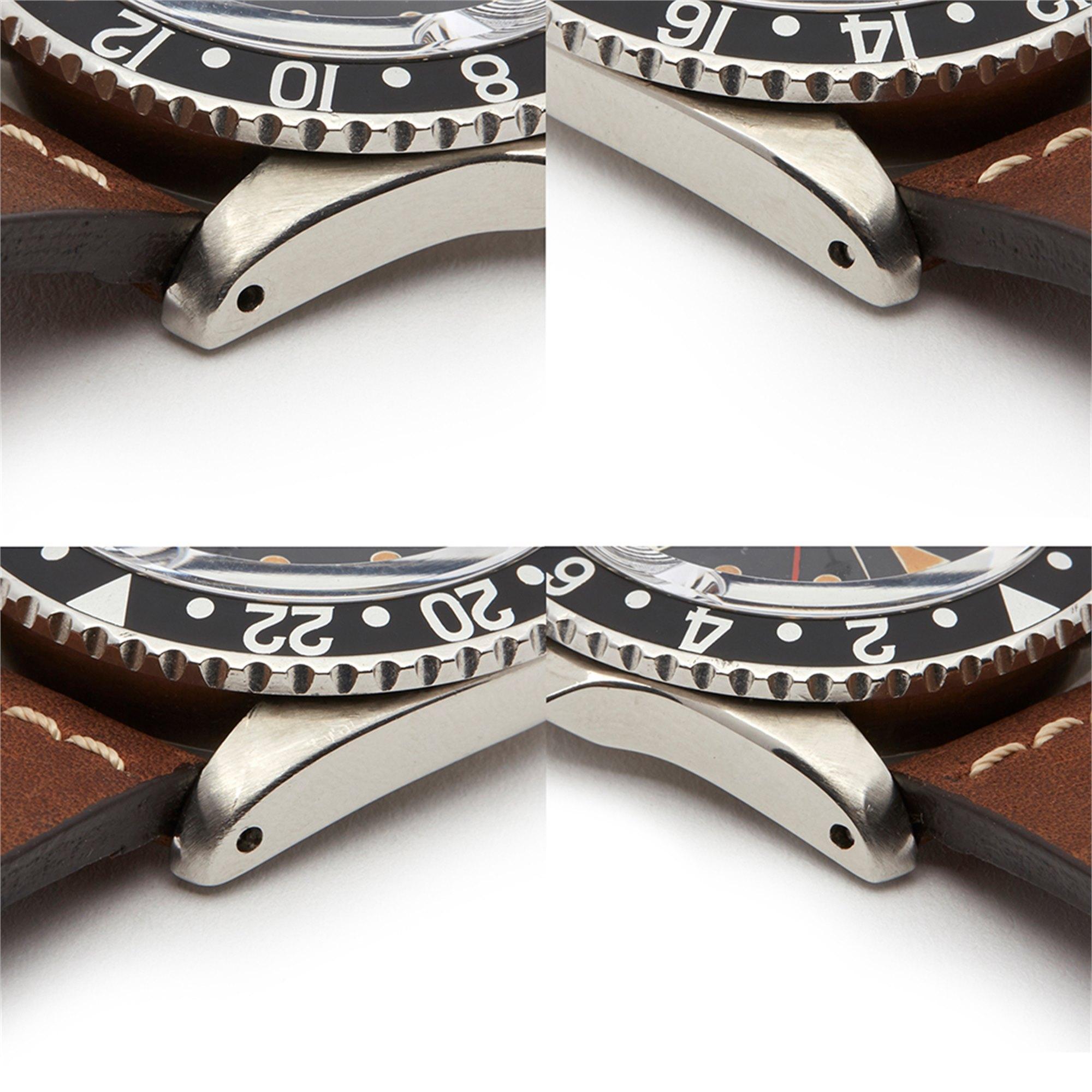 Rolex GMT-Master PCG Gilt Underline Dial Stainless Steel 1675