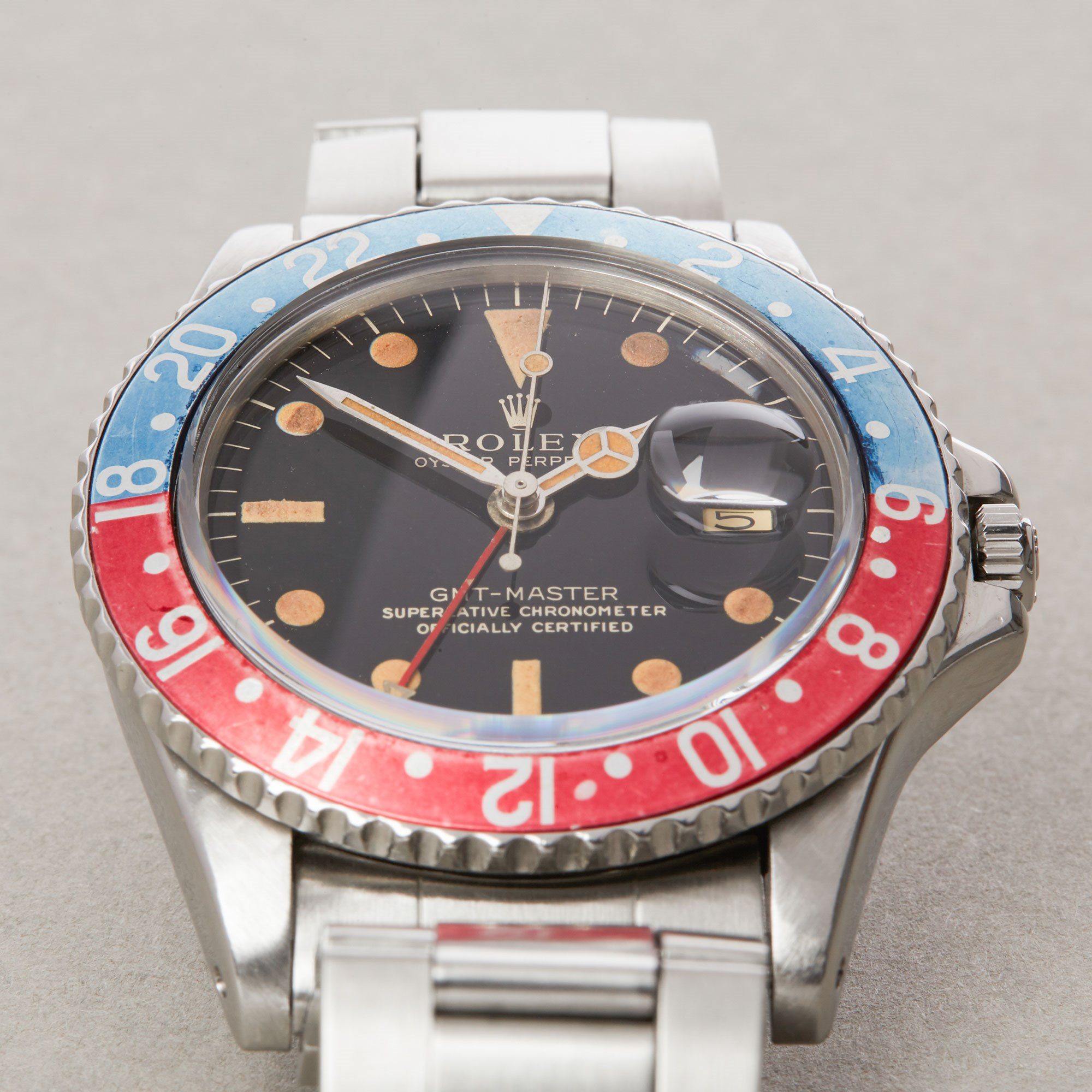 Rolex GMT-Master Pepsi Gilt Dial Stainless Steel 1675