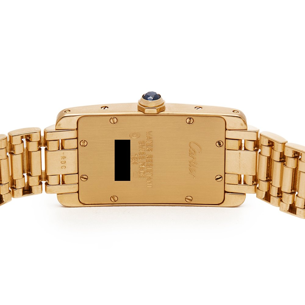 Cartier Tank Americaine 18k Yellow Gold W26015K2 or 1710