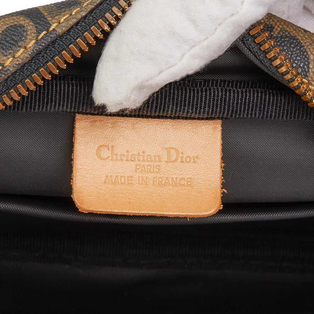 Christian Dior Brown Monogram Coated Canvas Vintage Pouch