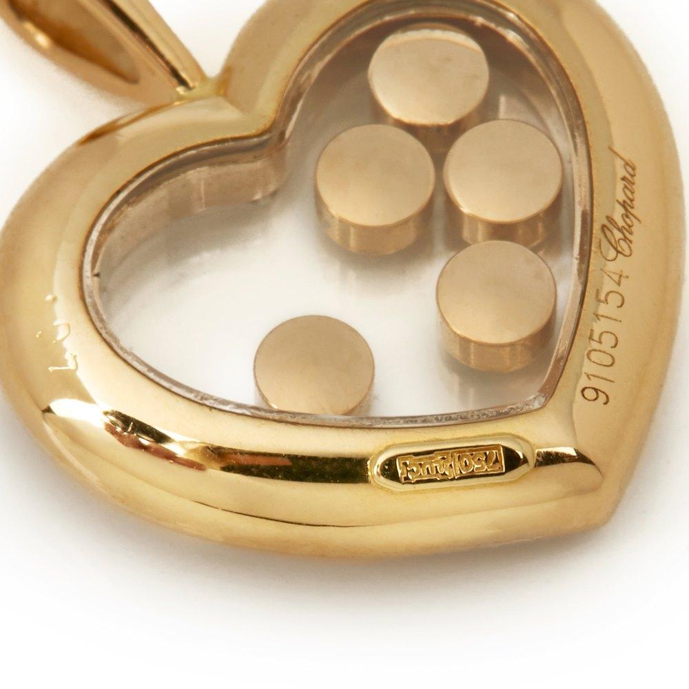 Chopard 18k Yellow Gold Happy Diamonds Heart Pendant