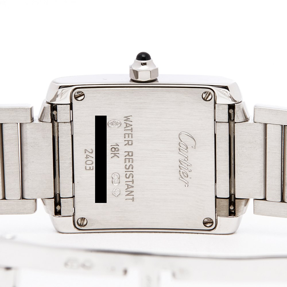 Cartier Tank Francaise 18k White Gold W50012S3 or 2403