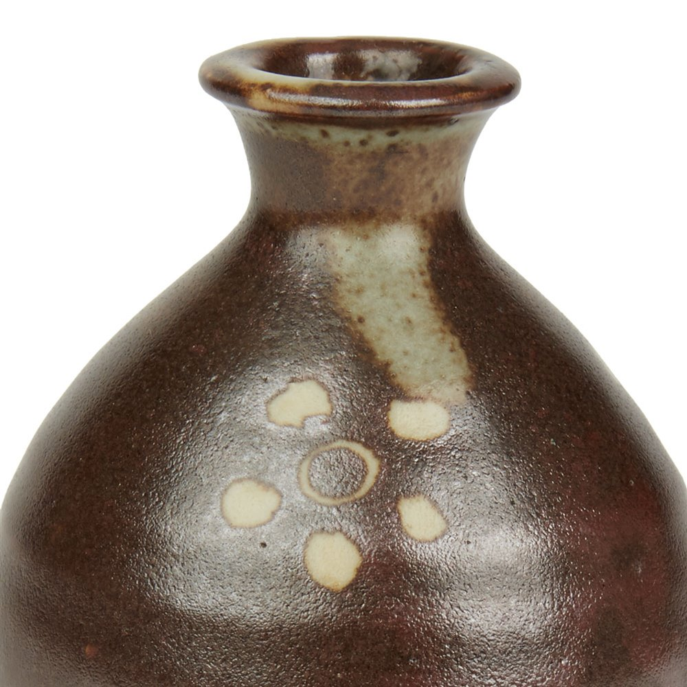 Bernard Leach Miniature Floral Design Studio Vase 20th C. 20th Century