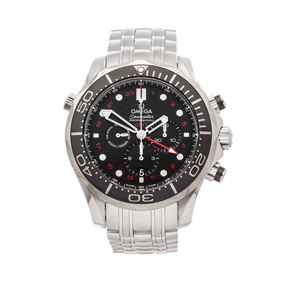 Omega Seamaster Gmt 300M Chronograph Stainless Steel - 212.30.44.52.01.001