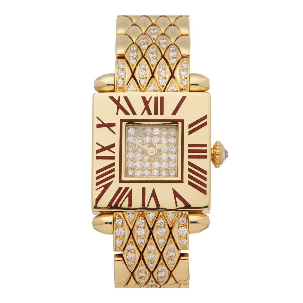 Cartier Quadrant Diamond 18k Yellow Gold 89070153