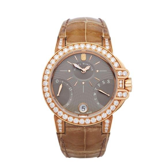 Harry Winston Ocean Biretrograde Diamond 18k Rose Gold - OCEAB136RR023