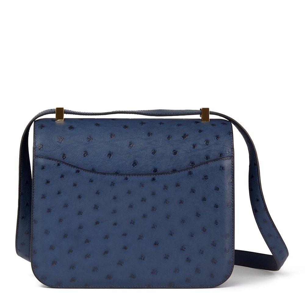 Hermès Bleu de Malte Ostrich Leather Special Order Constance 24