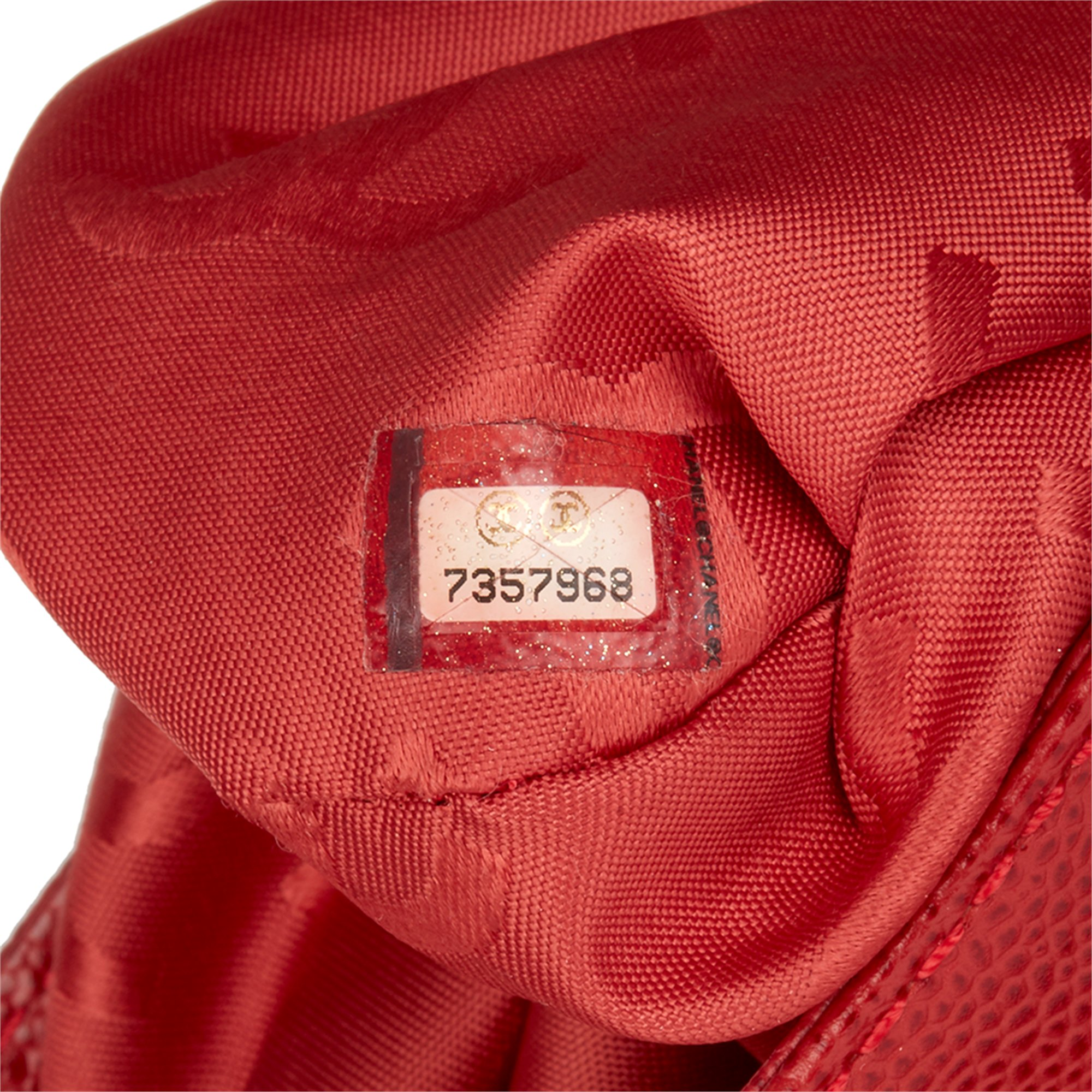 Chanel Red Caviar Leather Timeless Tote