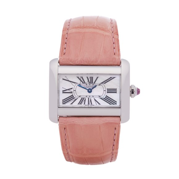 Cartier Divan Mother Of Pearl Stainless Steel - 2599