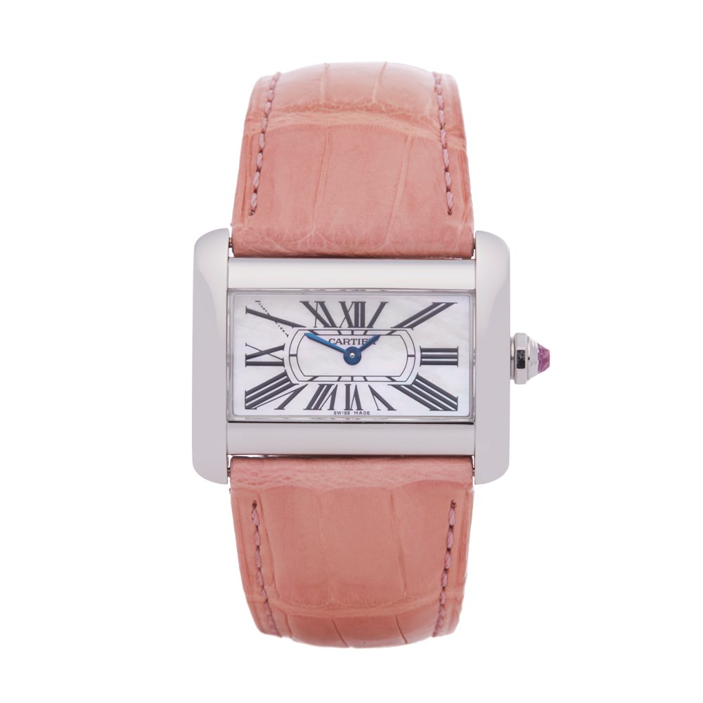 Cartier Divan Mother Of Pearl Stainless Steel 2599