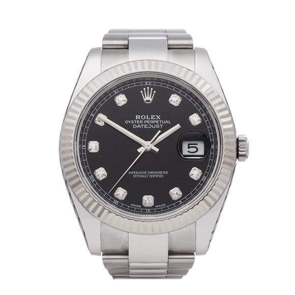 Rolex DateJust 41 Diamond Stainless Steel & White Gold - 126334