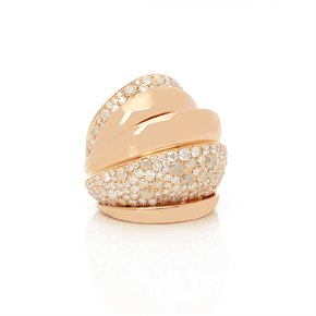 De Grisogono 18k Rose Gold Icy Diamond Cocktail Jane Ring