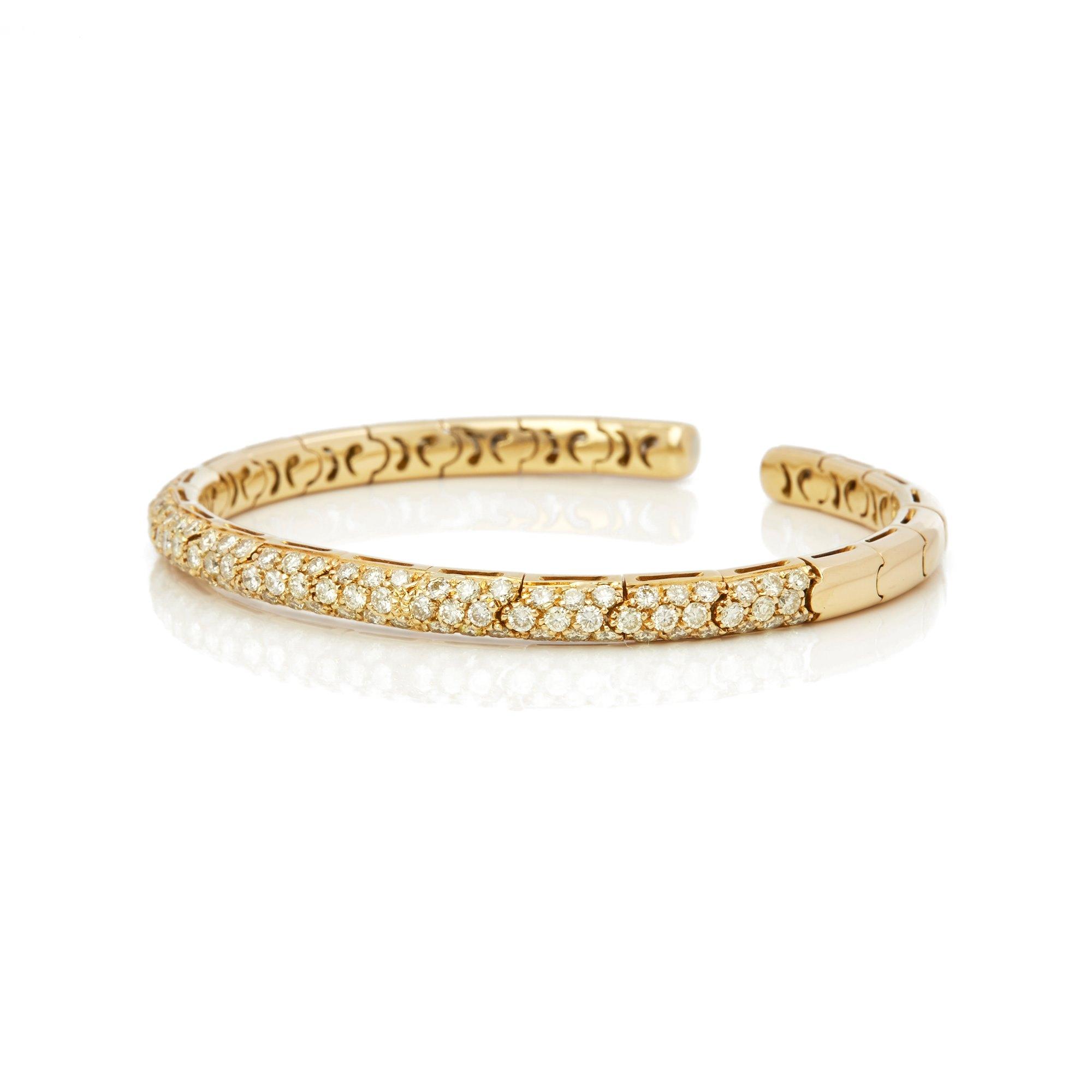 Mappin & Webb 18k Yellow Gold Fancy Yellow Diamond Cuff Bangle
