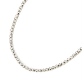 18k White Gold Beaded 4.50ct Diamond Necklace