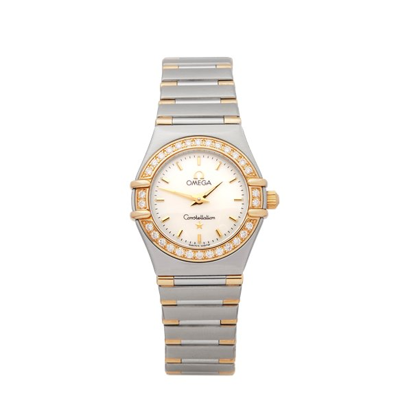 Omega Constellation Diamond Stainless Steel & Yellow Gold - 1277.3