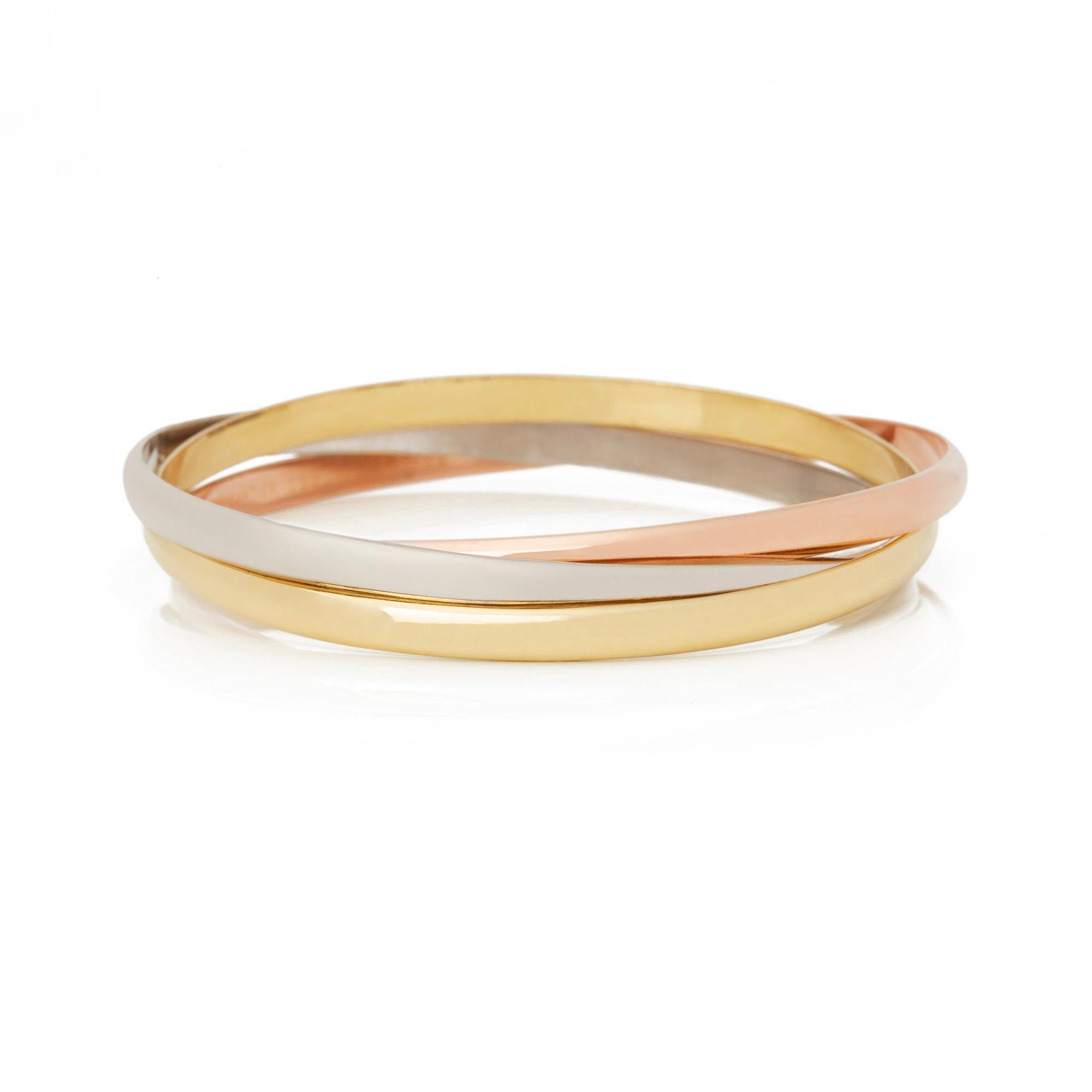 Cartier 18k Yellow, White & Rose Gold Medium Trinity Bracelet