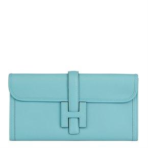 Hermès Blue Celeste Swift Leather Jige Elan 29