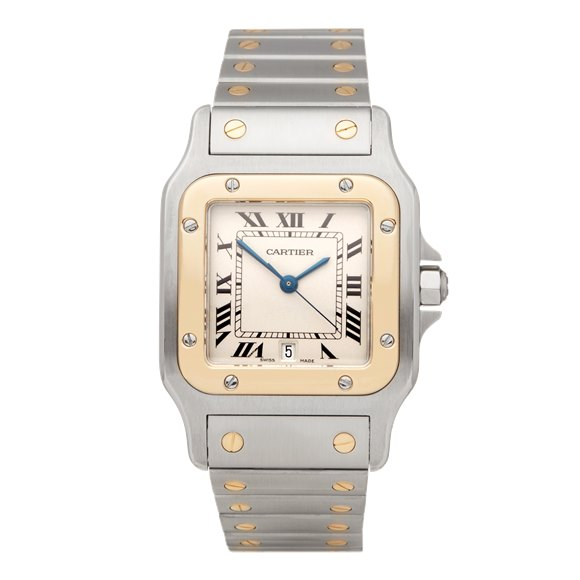 Cartier Santos Galbee Stainless Steel & Yellow Gold - W20103C4 or 1567