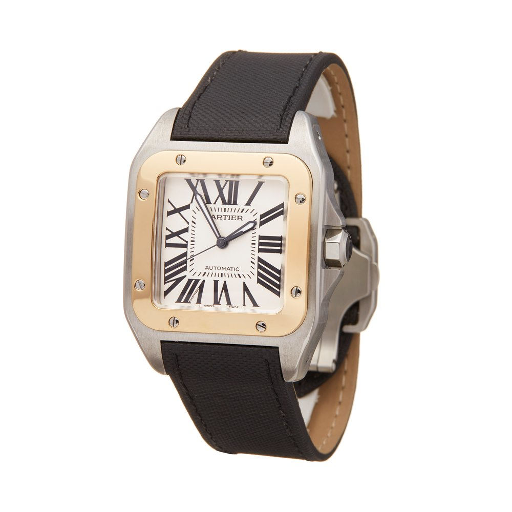 Cartier Santos 100 Stainless Steel & Yellow Gold W20072X7 or 2656